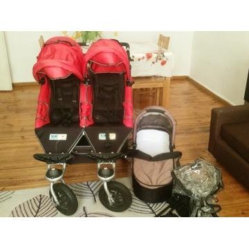 Wózek TFK Twinner Twist Duo podwójny czerwony.