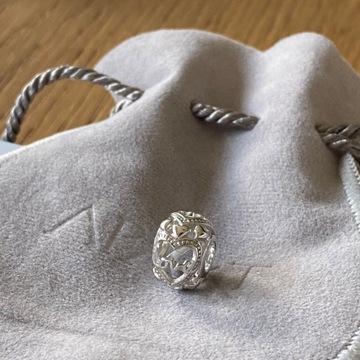 APART charms zawieszka koralik srebrny love serce