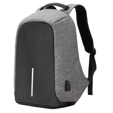 Plecak Antykradzieżowy Wodoodporny z portem USB
