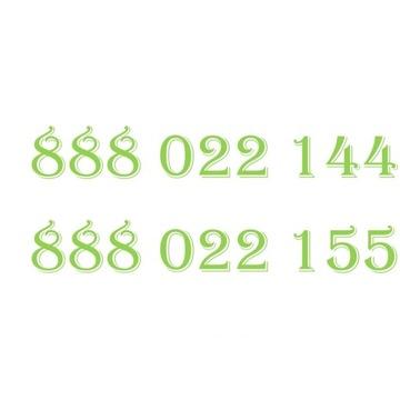 ZŁOTY NUMER HEYAH 888022144  888022155