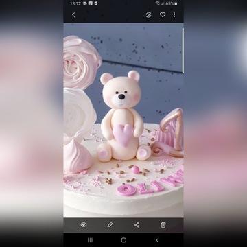 Miś,Zajączek figurka na tort , dekoracja