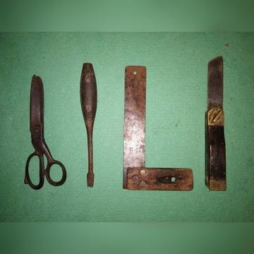 Stare narzędzia 4 szt