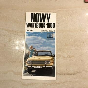 Prospekt wartburg 100 limuzyna 1966 stan idealny