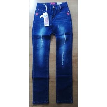 Spodnie jeansy w rozmiarze 146/152