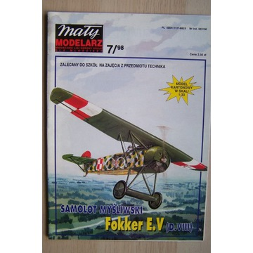 Mały Modelarz 7/98 Samolot Fokker E.V. (D.VIII)