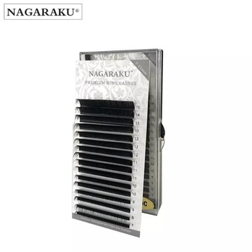 Rzęsy NAGARAKU Premium Mink D 0,10 MIX 16 pasków