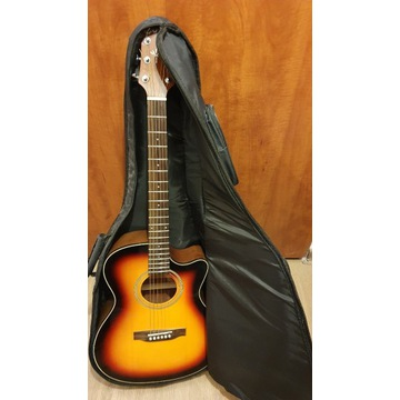 Gitara elektroakustyk Crafter htc-24eq/ts pokrowie