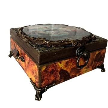 Pudełko drewniane szkatułka