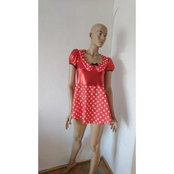kostium Minnie czerwono-biała sukienka w kropki