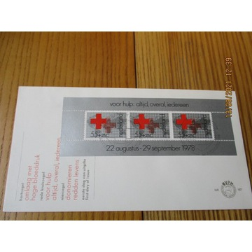 koperta HOLANDIA red cross CZERWONY KRZYŻ FDC 1978