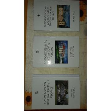 Dwory i pałace wiejskie 3 tomy M.P Libiccy