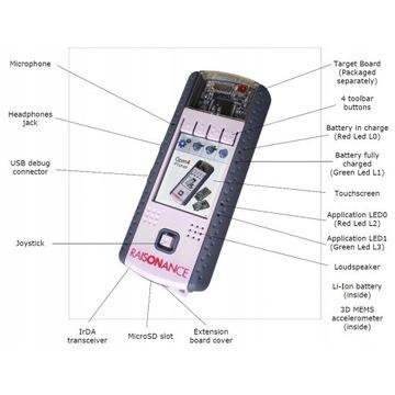 STM32 LCD-dotyk, 16Mb RAM, CAM, Gyro, SD,Audio,aku