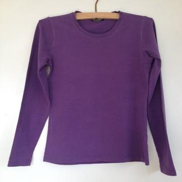 Bazowy sweterek bluzka top bazowa fioletowa gładka