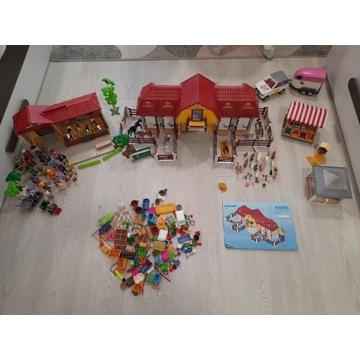 Wielki zestaw playmobil l!!! Farma , bazar, konie