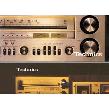Katalog Technics z 1978, wzmacniacze i gramofony