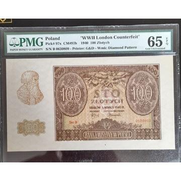 100 złotych 1940 ( London Counterfeit )