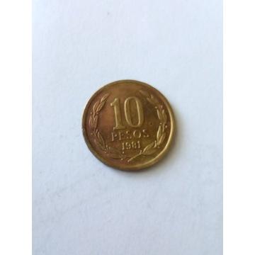 10 peso Chile 1981