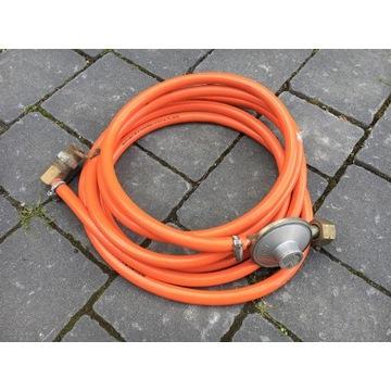 Wąż przewód propan butan + reduktor. Długość 4.30m