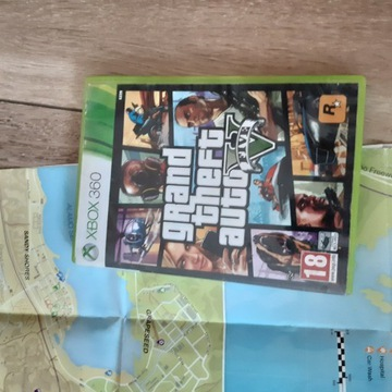 Gra na xbox 360 GTA V + mapa