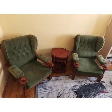 Komplet 2 fotele i stolik