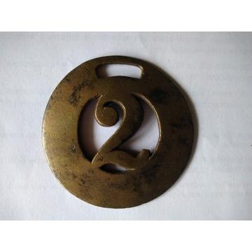 Odznaka Dorożkarza - Numer