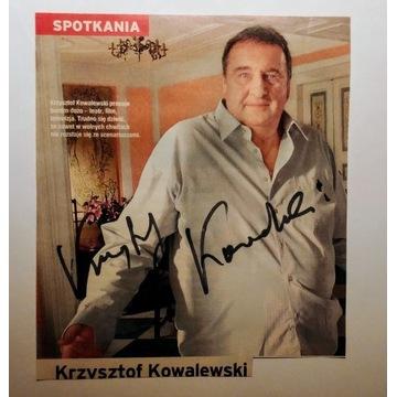 Ś.P. KRZYSZTOF KOWALEWSKI (AUTOGRAF)