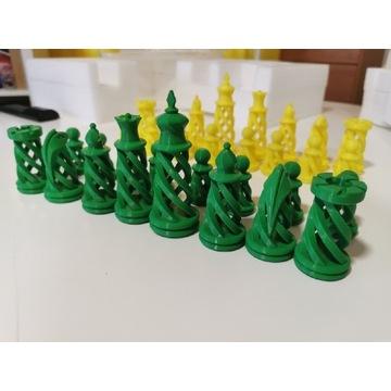 Szachy  spiralne żółto-zielone wyjątkowy prezent