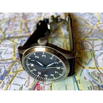 Zegarek dla Pilota TISELL Flieger, 2 Paski GRATIS!