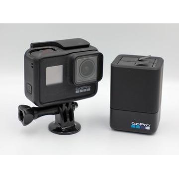 GoPro Hero 7 Black uchwyt ładowarka 2 baterie