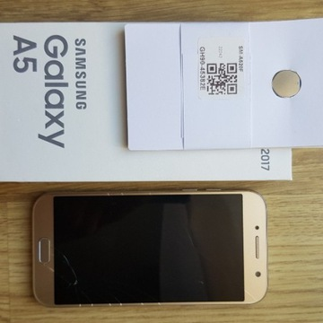 Samsung Galaxy A5 2017 SM-A520F złoty - uszkodzony