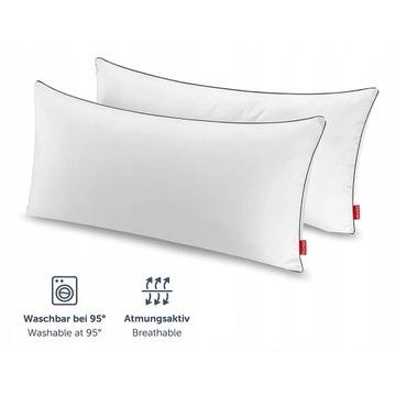 Blumtal 2x Poduszki z Mikrofibry Biała 40x80cm