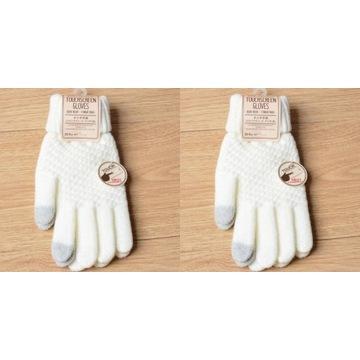 Rękawiczki  damskie dotykowe do telefonu, 2 pary