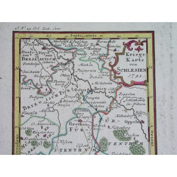 1742 ŚLĄSK MAPA WOJENNA WROCŁAW OPOLE NYSA BRZEG