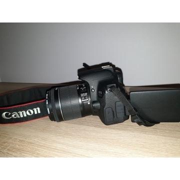 Lustrzanka Canon 700d z obiektywem 18-55 Stm