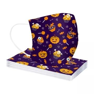 Halloween maseczka dziecięca 3-WARSTWOWA
