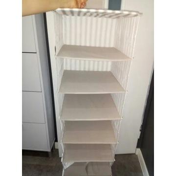 Półki Ikea materialowe szare solidne