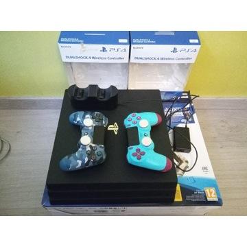 PlayStation 4 PRO 1TB 2x Pad Stacja Gra Stan ideal