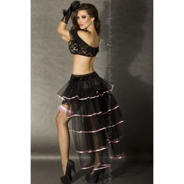 CHILIROSE Tiulowa spódnica z trenem XL