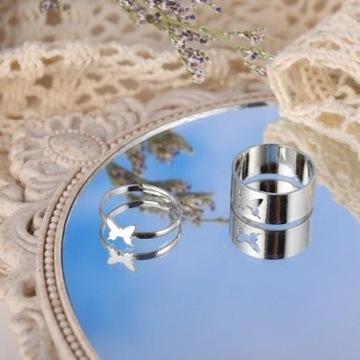 Pierścień srebrny dla par