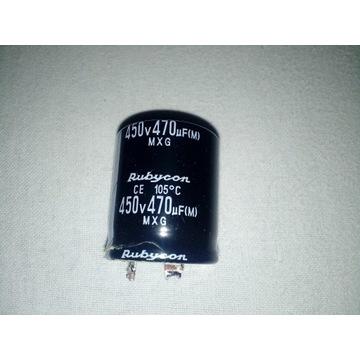 kondensator rubycon 450V 470uF