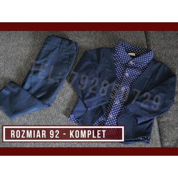 Rozmiar 92 - Marynarka, spodnie, koszula - KOMPLET