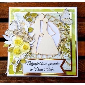Kartka na ślub wesele w pudełku