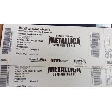 Metallica symfonicznie dwa bilety Lublin