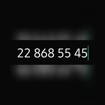 Zloty numer stacjonarny warszawski 22 868 55 45