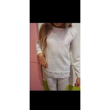 Sweterek koronka h&m 122 128