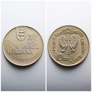 10ZŁ, 50 LAT PORTU W GDYNI, 1972