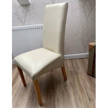 Wygodne eleganckie eko skóra zestaw 10 krzeseł beż