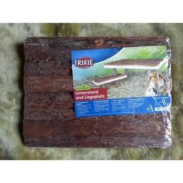 Drewniany daszek dla świnek morskich i królików