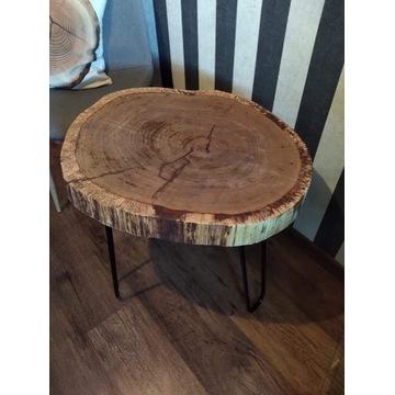 Dębowy stolik 60cm, ręcznie robiony