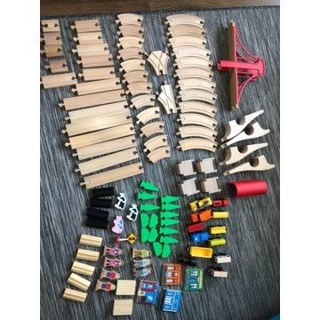 Kolejka drewniana/ duży zestaw